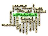 NETWORKING 3d cross word colour bright letter
