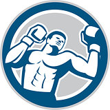 Boxer Boxing Boxing Circle Retro