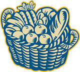 Crop Harvest Basket Retro