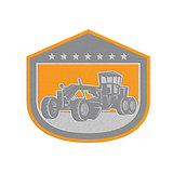 Metallic Road Grader Shield Retro
