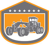 Road Grader Shield Retro