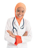 Muslim female doctor