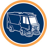 Street Cleaner Truck Circle Retro