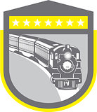 Steam Train Locomotive Retro Shield