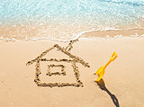house on the sand