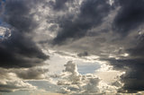 Cloudscape in the nature