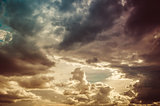 Cloudscape in the nature vintage