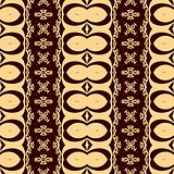 Decorative seamless pattern in a brown colors