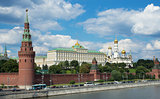MOSCOW - July 07, 2014: View of Moscow Kremlin