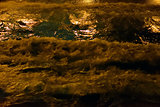 Night sea water close up