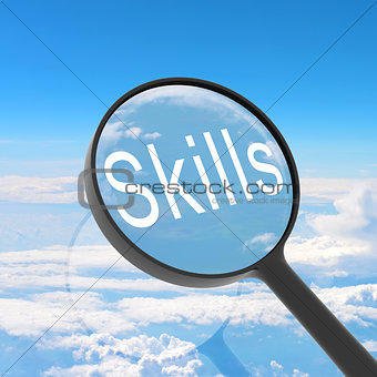 Magnifying glass looking Skills