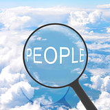 Magnifying glass looking PEOPLE