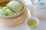 hot  tea and Mantou