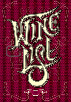 background with inscription wine and ornament for menu