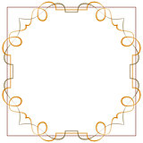 Vector. Vintage beautiful elegant frame. Element for design