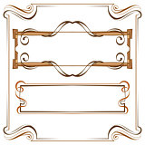 Vector. Vintage beautiful elegant frame. Set of elements for des