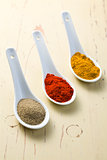 various spicy powder
