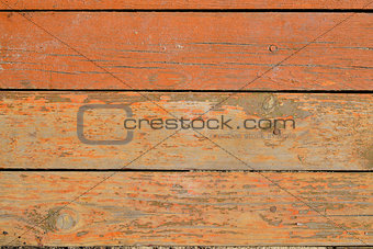 Painted wooden boards with nails