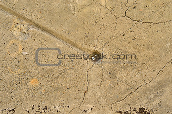 Old, cracked concrete surface