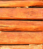 Wall made ​​of wooden beams