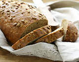 loaf of rye bread with sunflower seeds