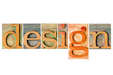 design - wood type collage