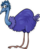 emu ostrich bird cartoon illustration