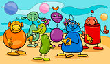 cartoon fantasy characters group