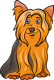 yorkshire terrier dog cartoon illustration