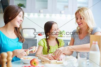 Enjoying cooking