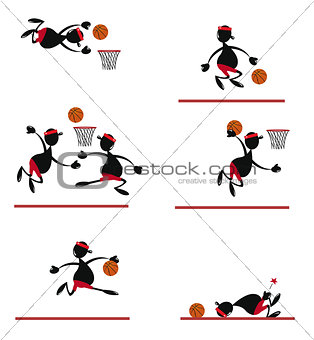 Funny Basket Player