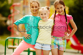 Girls in casual