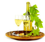 White wine still life