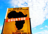 Equator sign board