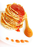 Tasty pancakes with syrop