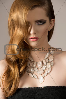 charming girl with necklace
