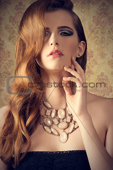 fashion sensual elegant woman
