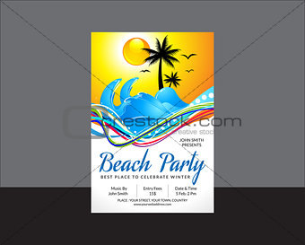 abstract beach party flyer