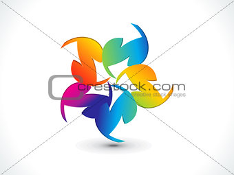 abstract colorful rainbow shape