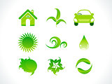 abstract eco icon