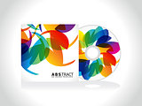 abstract colorful cd cover template