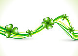 abstract st patrick clover wave