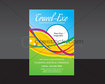 abstract travel flyer