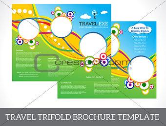 abstract tri fold brochure