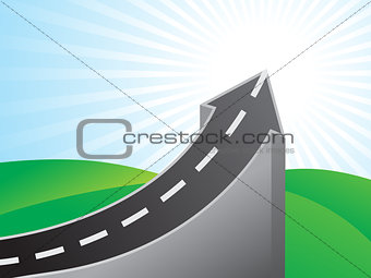 abstract success road bridge