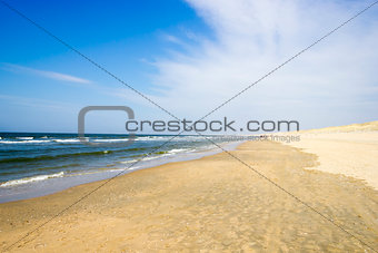 Beach on North Sea, the Netherlands