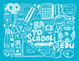 doodle back to school background