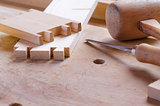 Pins and tails of dovetailed joint