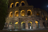Rome The  back of the Colosseum