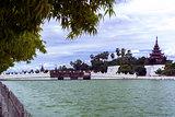 Bastion of Mandalay Palace at Day.